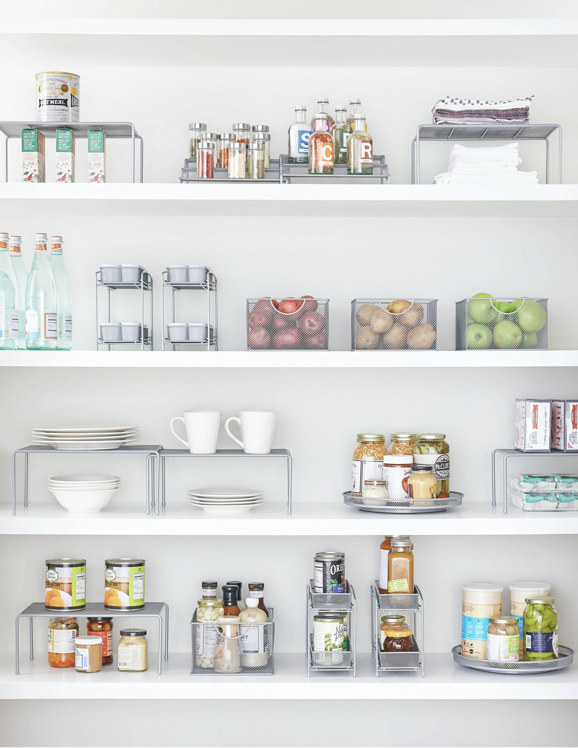 ORG 9-Tier Expandable Metal Mesh Shelf - Org Metal Mesh Kitchen Cabinet Organizer