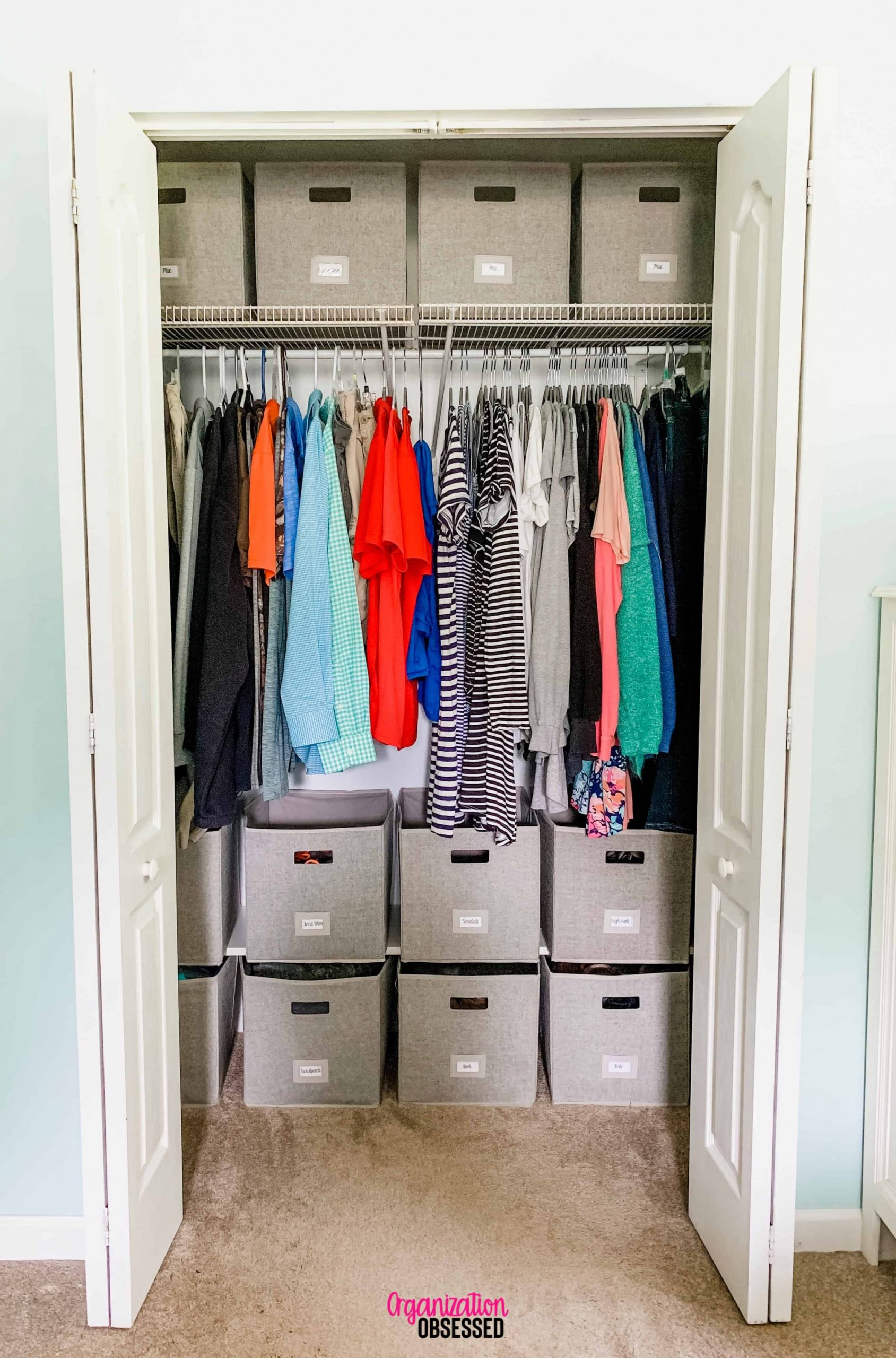 Organizing a Small Bedroom Closet - Organization Obsessed - Closet Ideas For Small Bedrooms