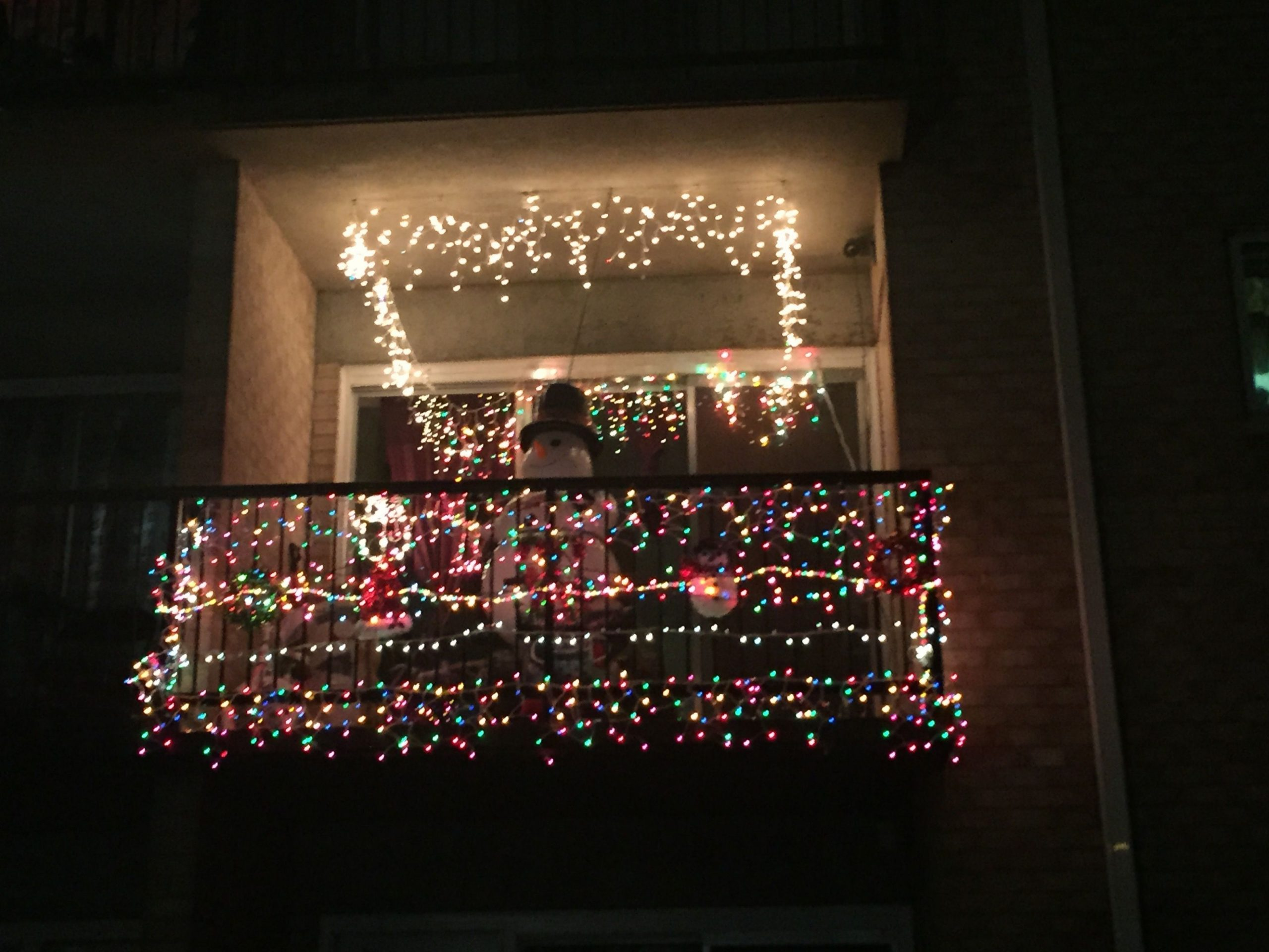 Our residents went all out for the first ever Beacon Hill  - Apartment Balcony Decorating Ideas Christmas