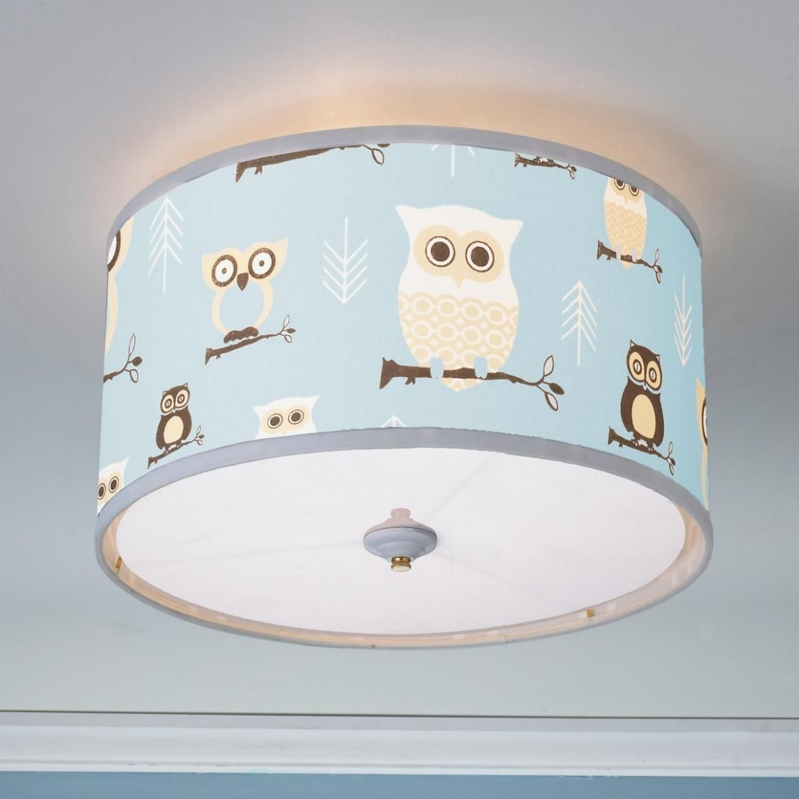 Owls Drum Shade Ceiling Light  Ceiling lights, Ceiling light  - Baby Room Light Shade