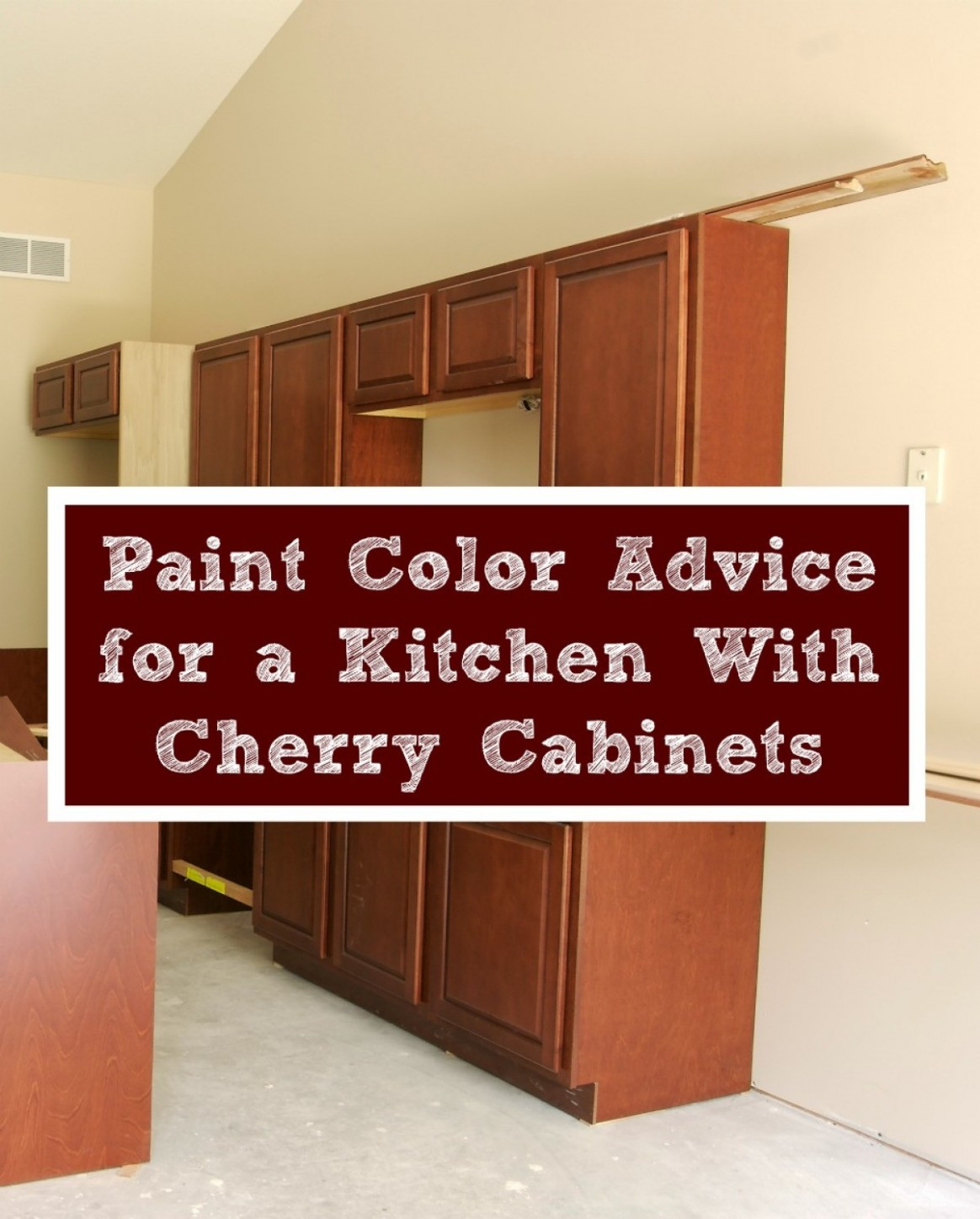 Paint Color Advice for a Kitchen With Cherry Cabinets  ThriftyFun - Kitchen Wall Paint Colors With Cherry Cabinets