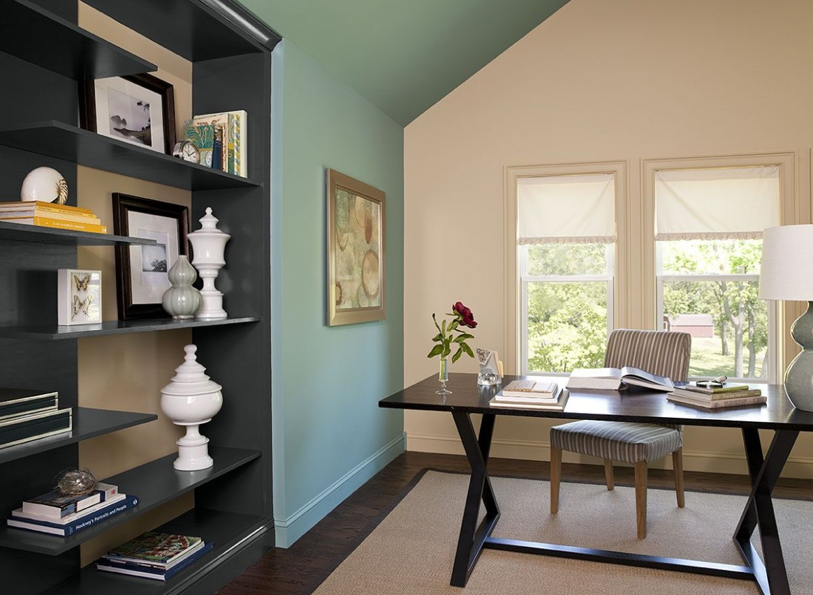 Paint Color Schemes for Studies & Home Offices from Benjamin Moore  - Home Office Ideas Colors
