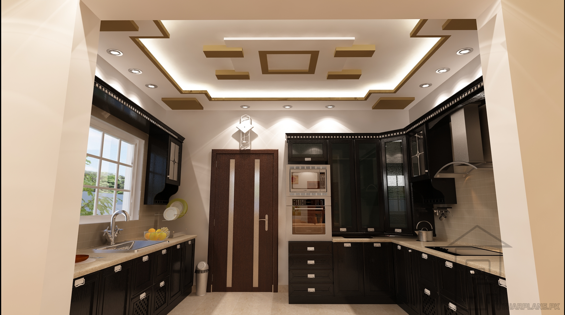Pakistani Kitchen Design with false ceiling design and most of the  - Dining Room Ideas In Pakistan