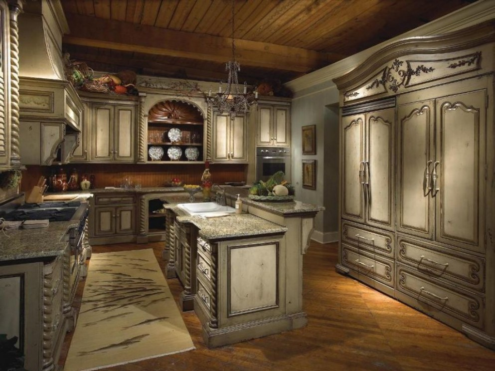 Perfect Old World Style Kitchen Cabinets On Design Ideas Cottage  - World Kitchen Cabinets
