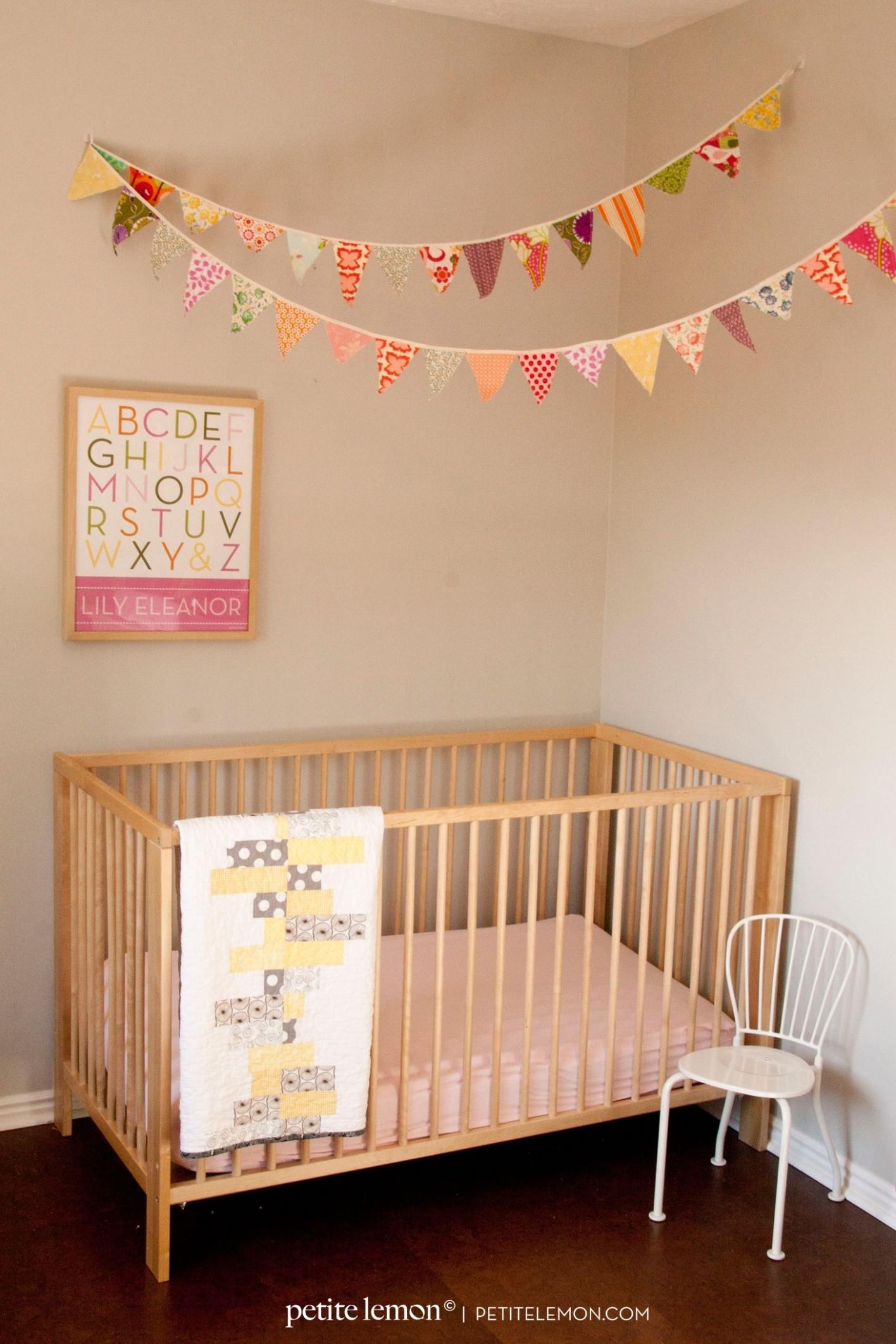 Petite Lemon Blog  Girl room, Nursery bunting, Baby girl room - Baby Room Bunting
