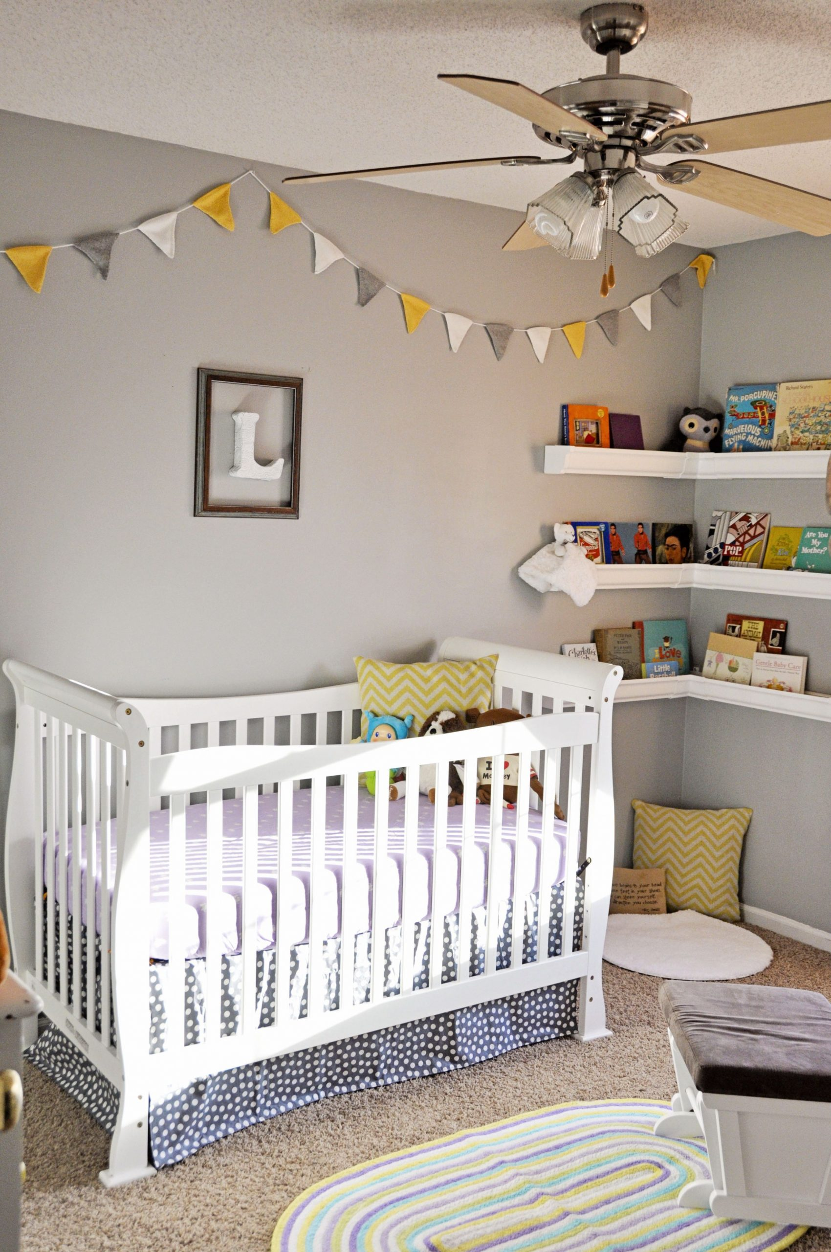 Pin by Aurora Miguel on Baby Bean  Yellow nursery, Nursery  - Baby Room Bunting