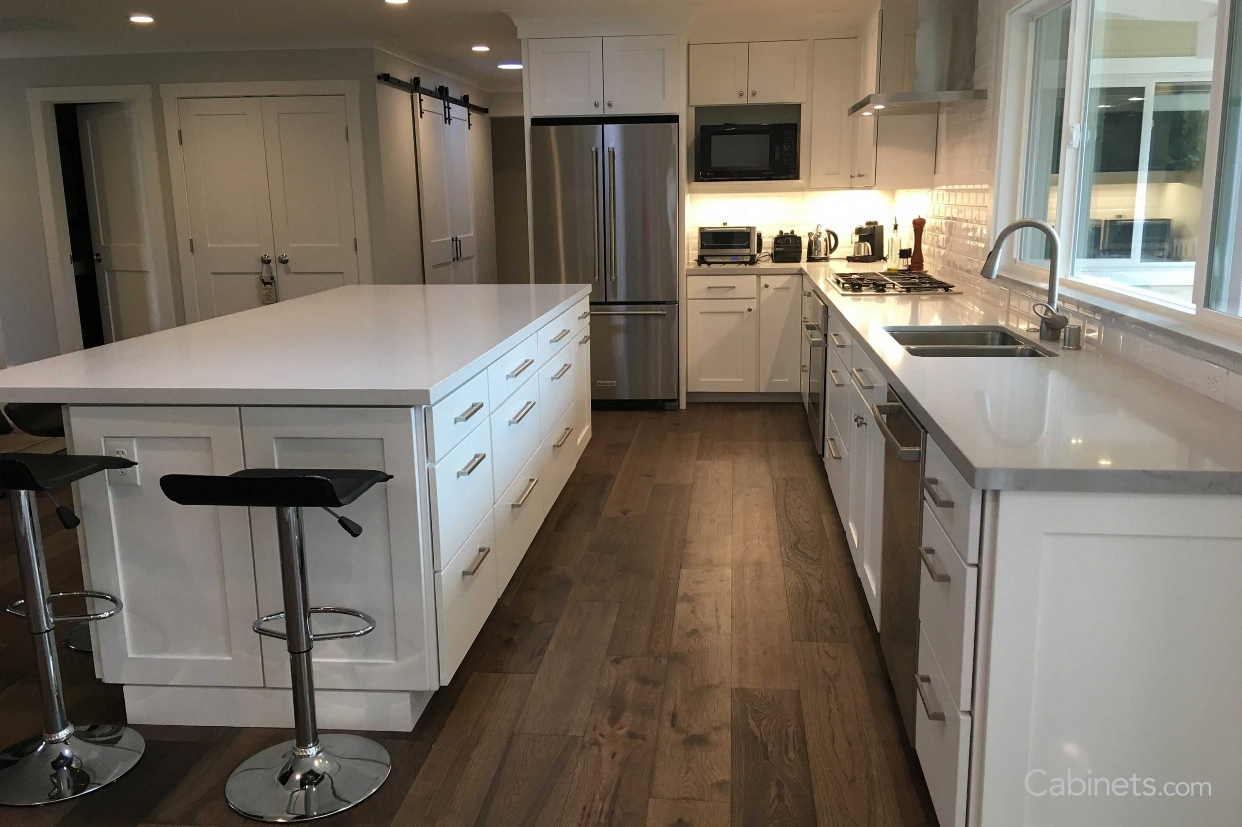 Pin by Danielle Colegrove on Kitchen ideas  Kitchen with long  - Long Island Kitchen Cabinets Wholesale