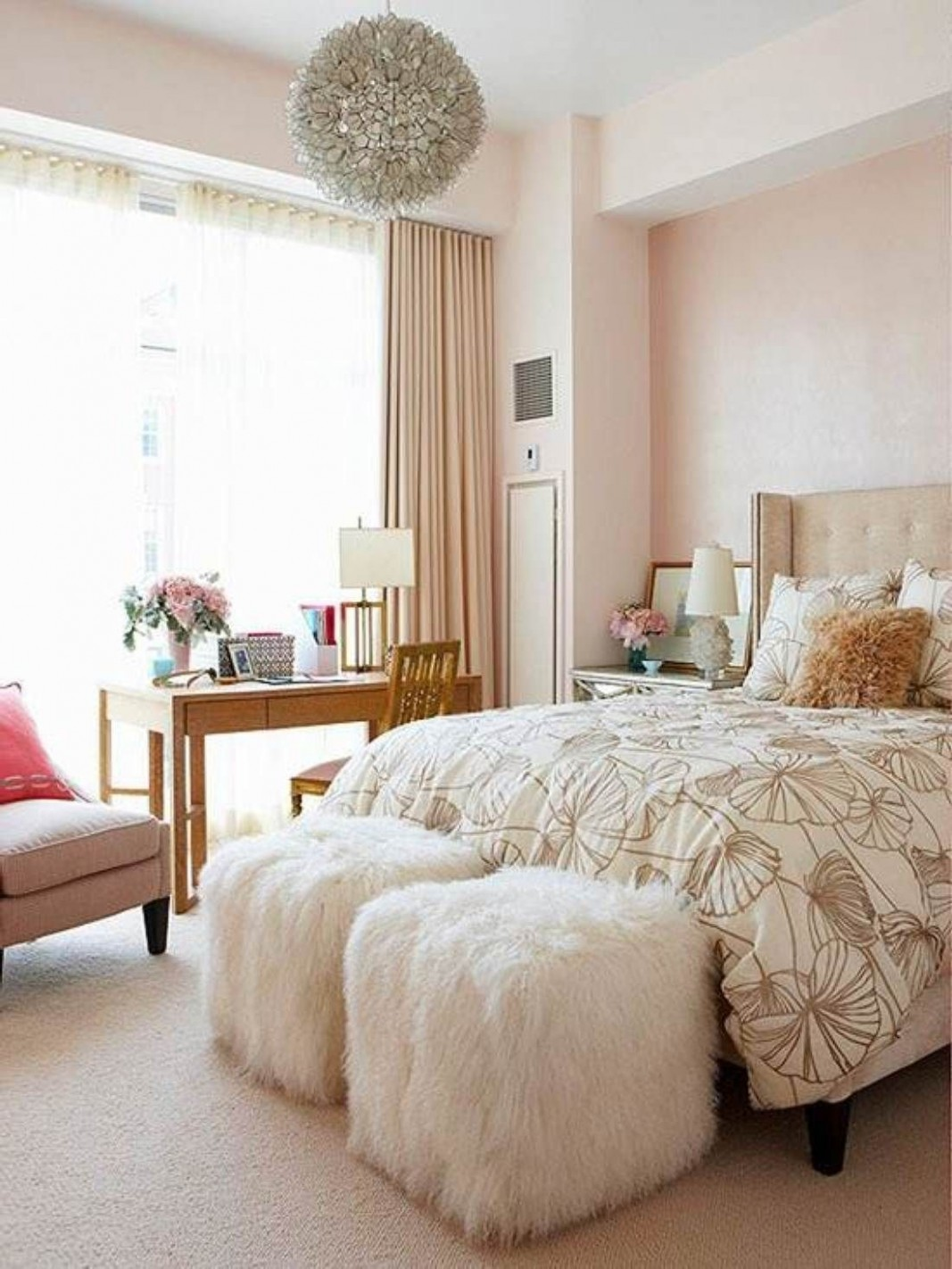 Pin by Krystal Lindsey on Home  Champagne bedroom, Elegant  - Bedroom Ideas For Women