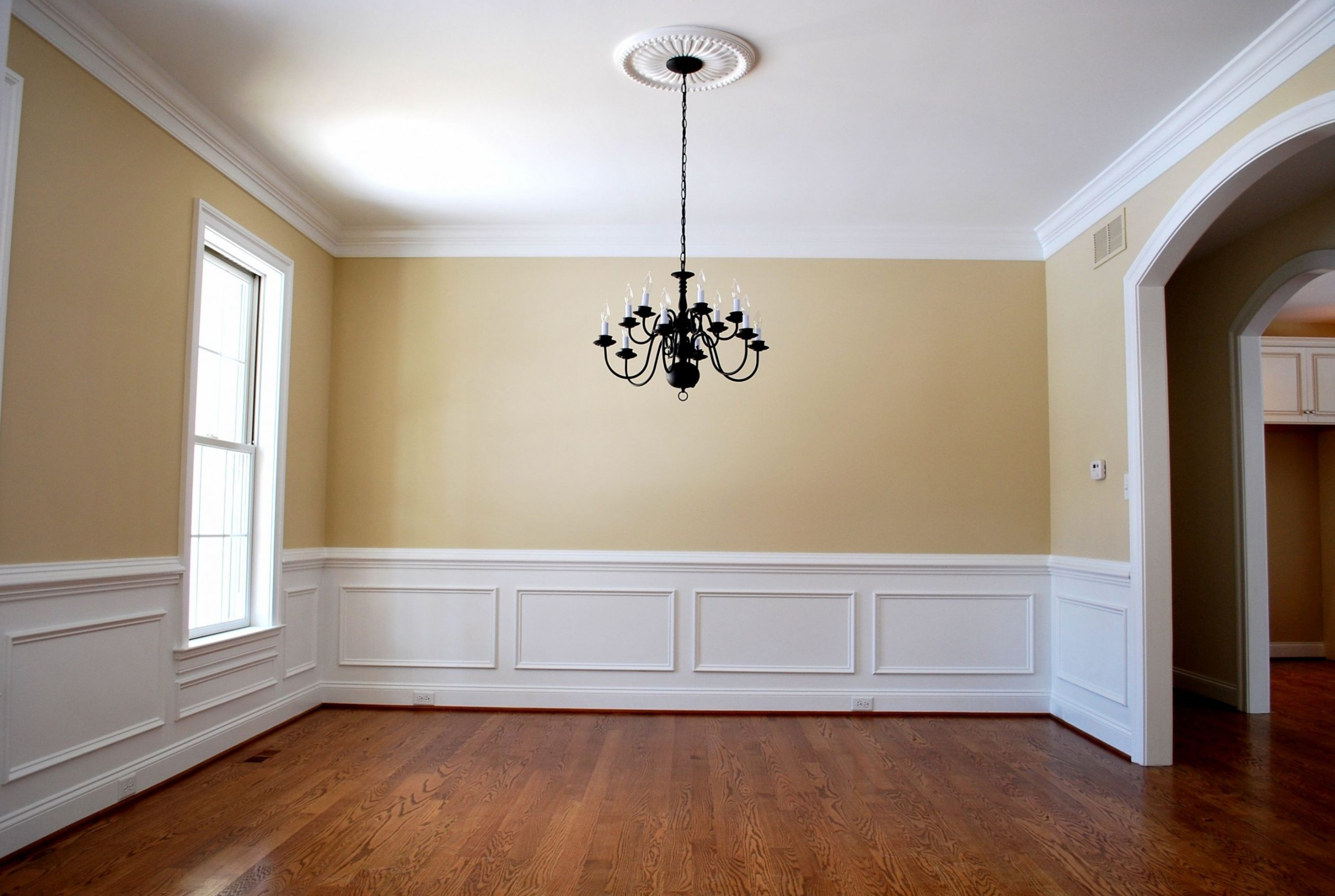 Pin by Ortner Group on Dining Rooms  Dining room wainscoting  - Dining Room Moulding Ideas