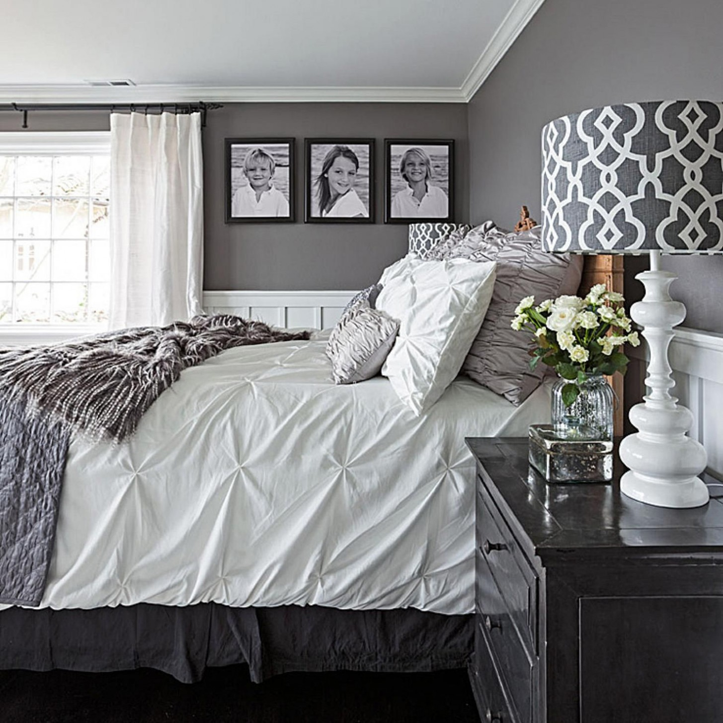 Pin on Apartment Decor Ideas - Bedroom Ideas Grey And White