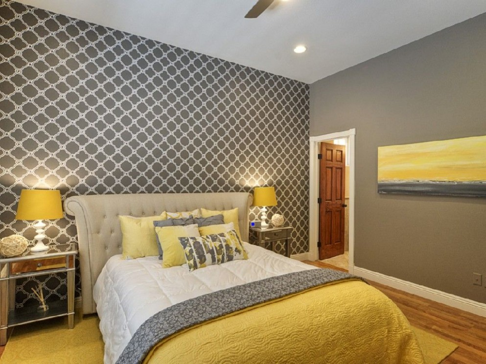 Pin on Bedrooms - Bedroom Ideas Yellow And Grey