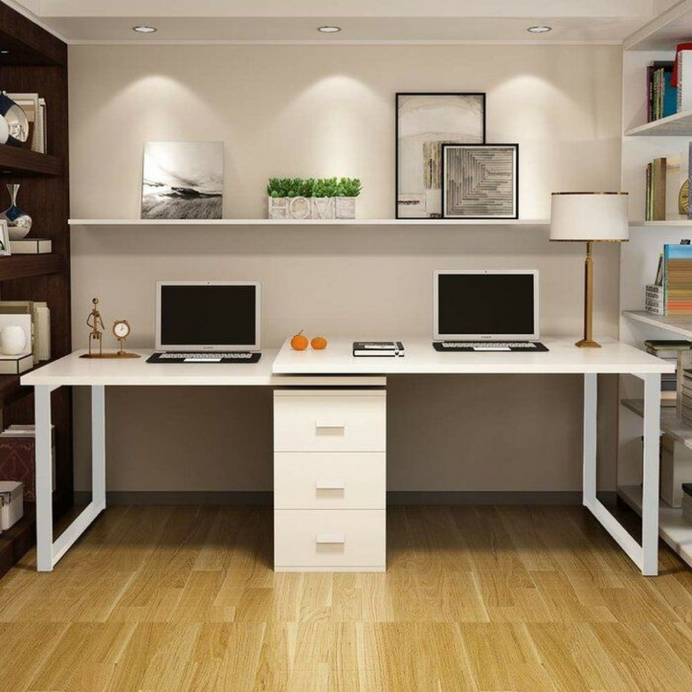 Pin on Home Decor Ideas - Home Office Ideas Two Desks