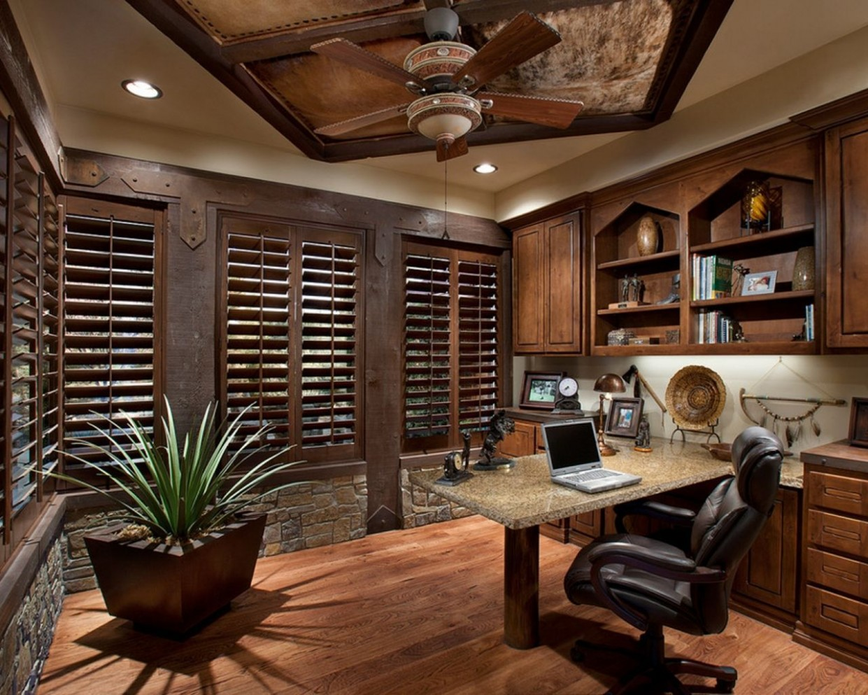 Pin on Home Decoration Ideas - Home Office Ideas Rustic
