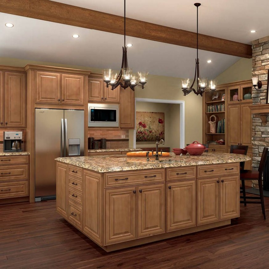 Pin on Knotty alder kitchen - Lowes Cherry Wood Kitchen Cabinets