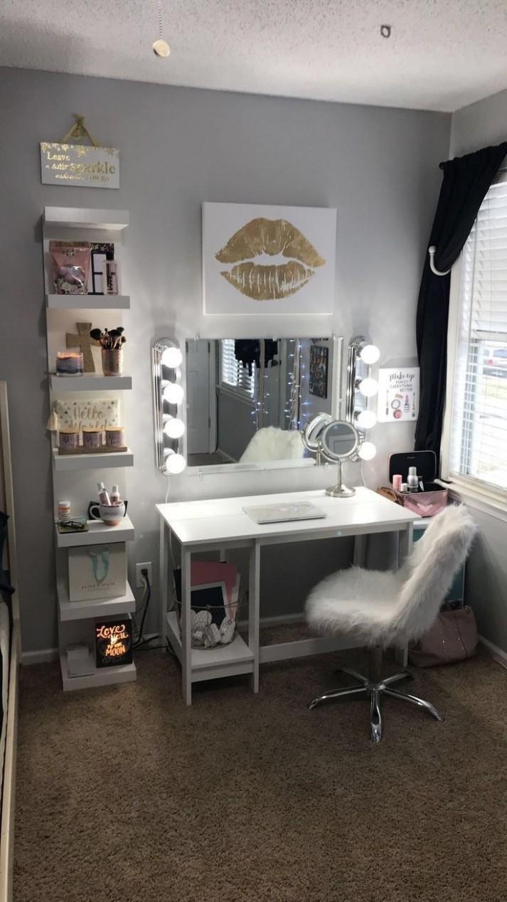 Pin on Makeup Organization/ Storage/ Vanities - Makeup Room In Bedroom