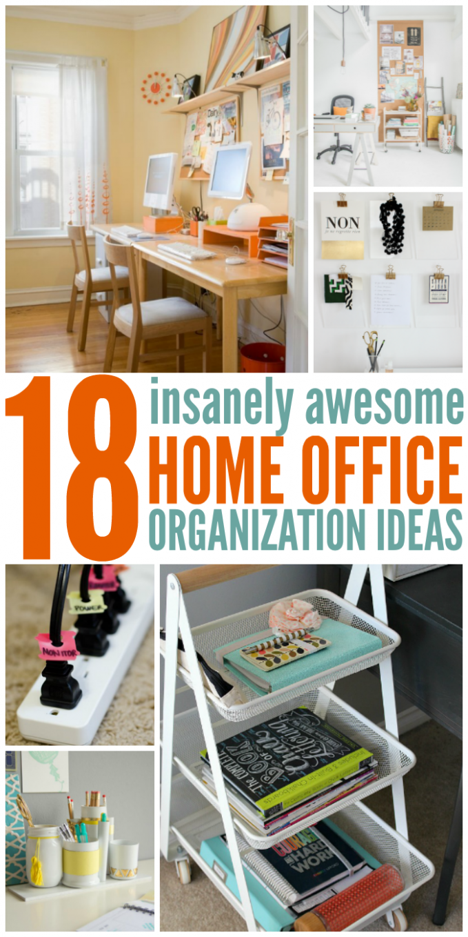 Pin on Real Blogging - Home Office Organization Ideas