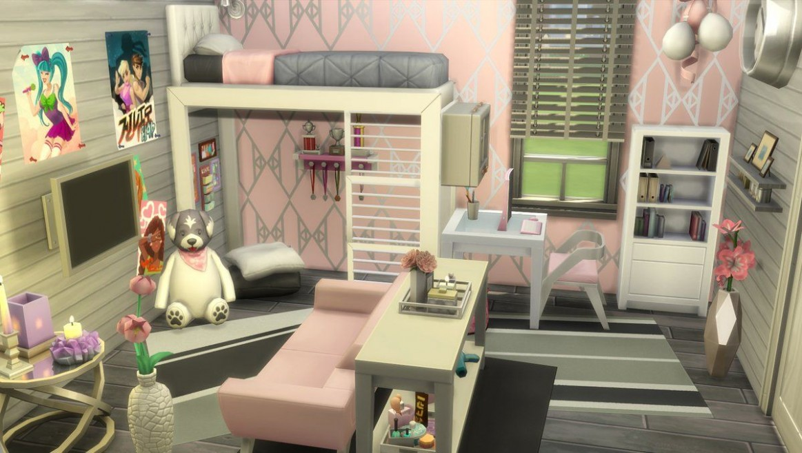 Pin on Sims 11 NoCC - Bedroom Ideas Sims 4