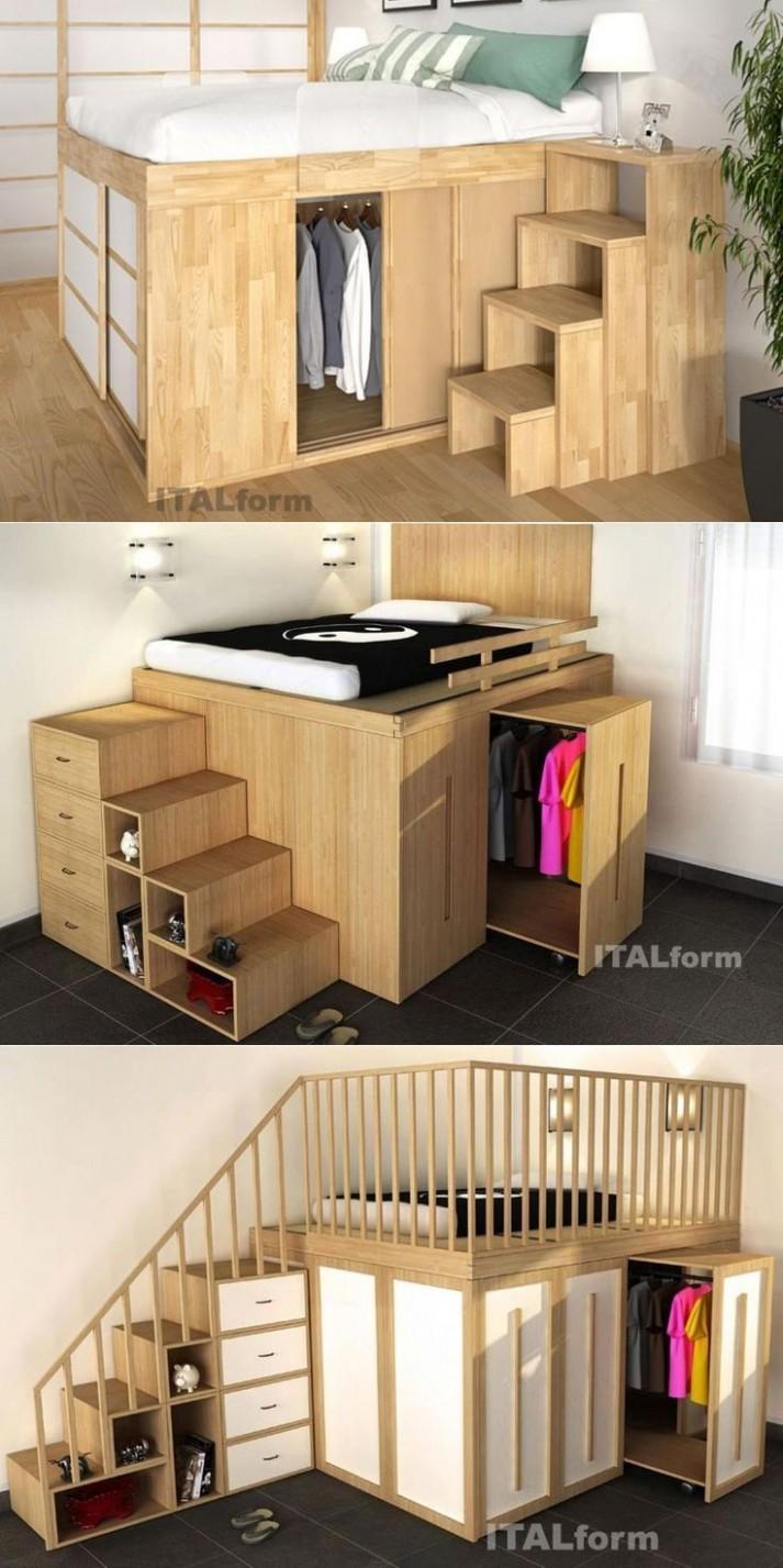 Pin on Small Bedroom Ideas - Bedroom Ideas Space Saving