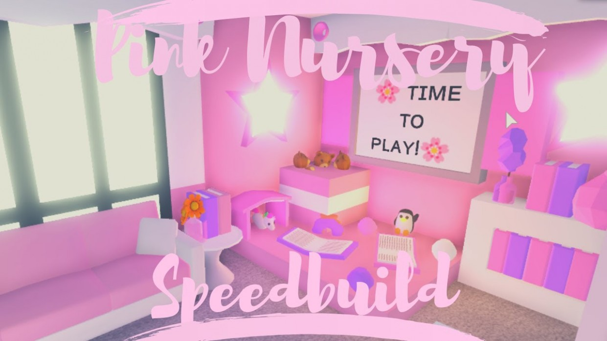 Pink Nursery Speedbuild  Roblox Adopt Me - Baby Room Near Me