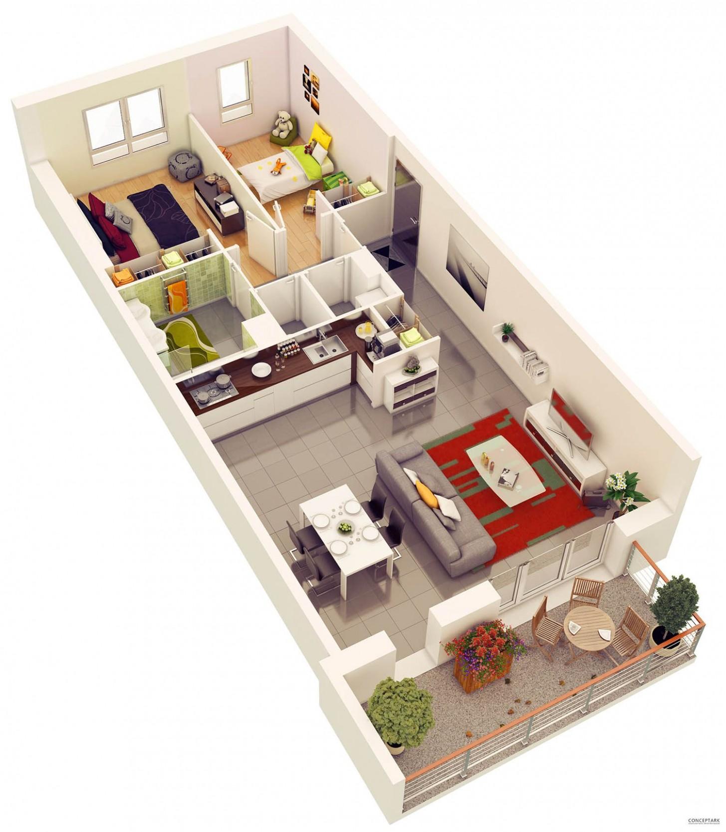 Portfolio  Small apartment plans, Small apartment floor plans, 9  - Apartment Design Online