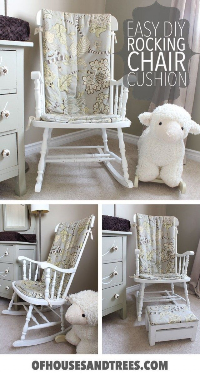 Prefer an old fashioned wood rocker to an oversized glider for  - Baby Room Rocking Chair