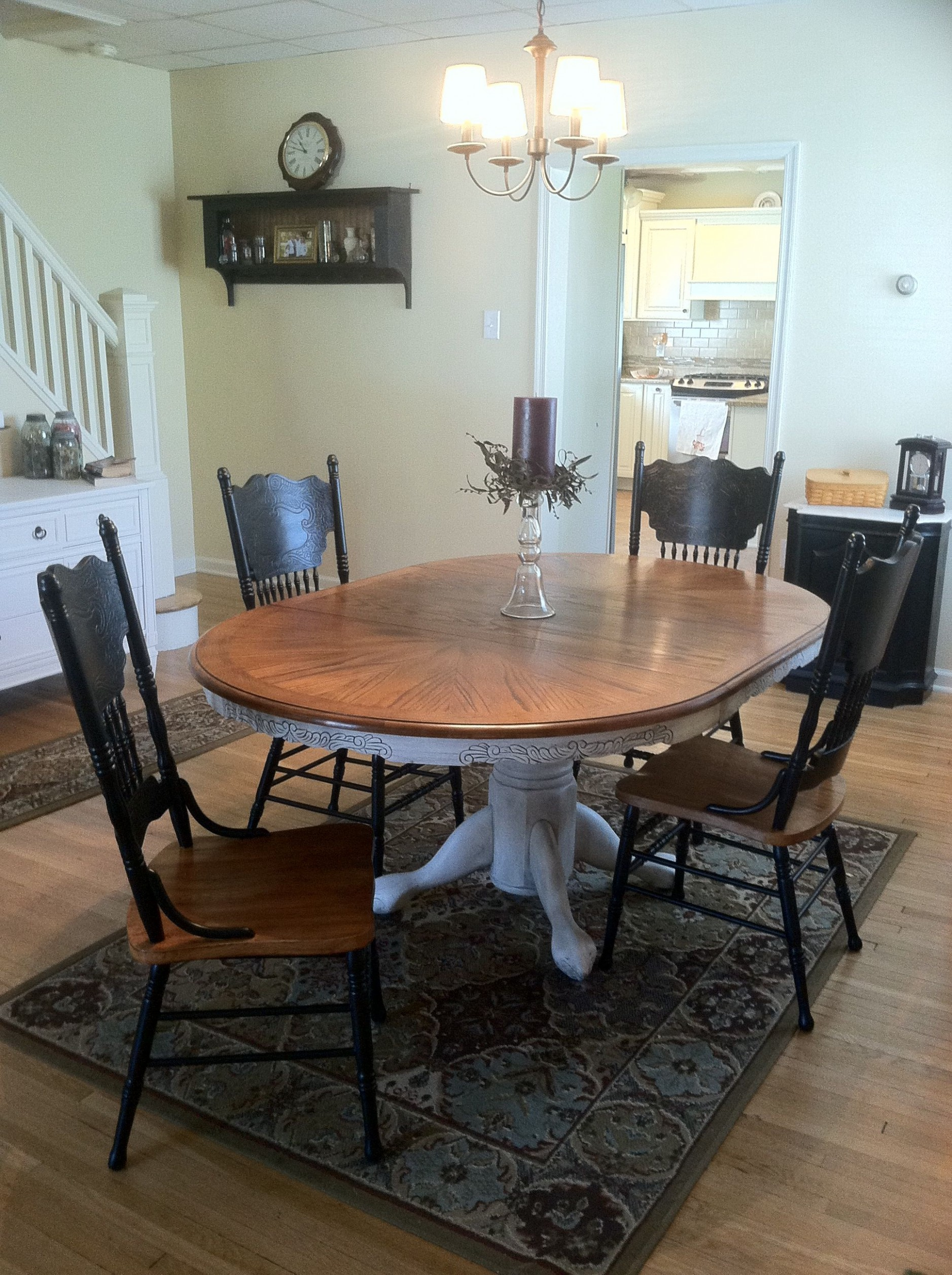 Pressback table and chairs redo