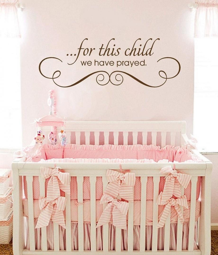 Pretty nursery room  Nursery wall quotes, Girl room quotes, Boy  - Baby Room Quotes
