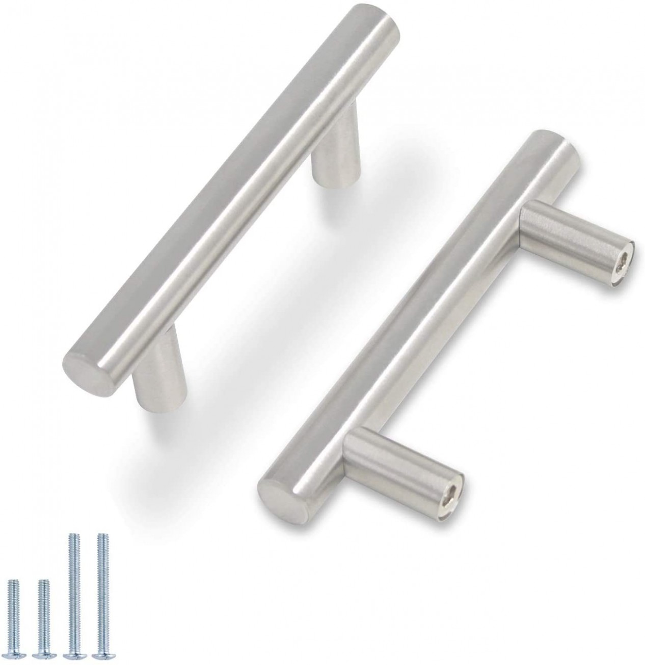 Probrico Stainless Steel Modern Cabinet Handles, Drawer Pulls, Kitchen  Cupboard T Bar Knobs and Pull Handles Brushed Nickel - 1111-11/1111 Inch Screw  Spacing  - Kitchen Cabinet Handle Screws