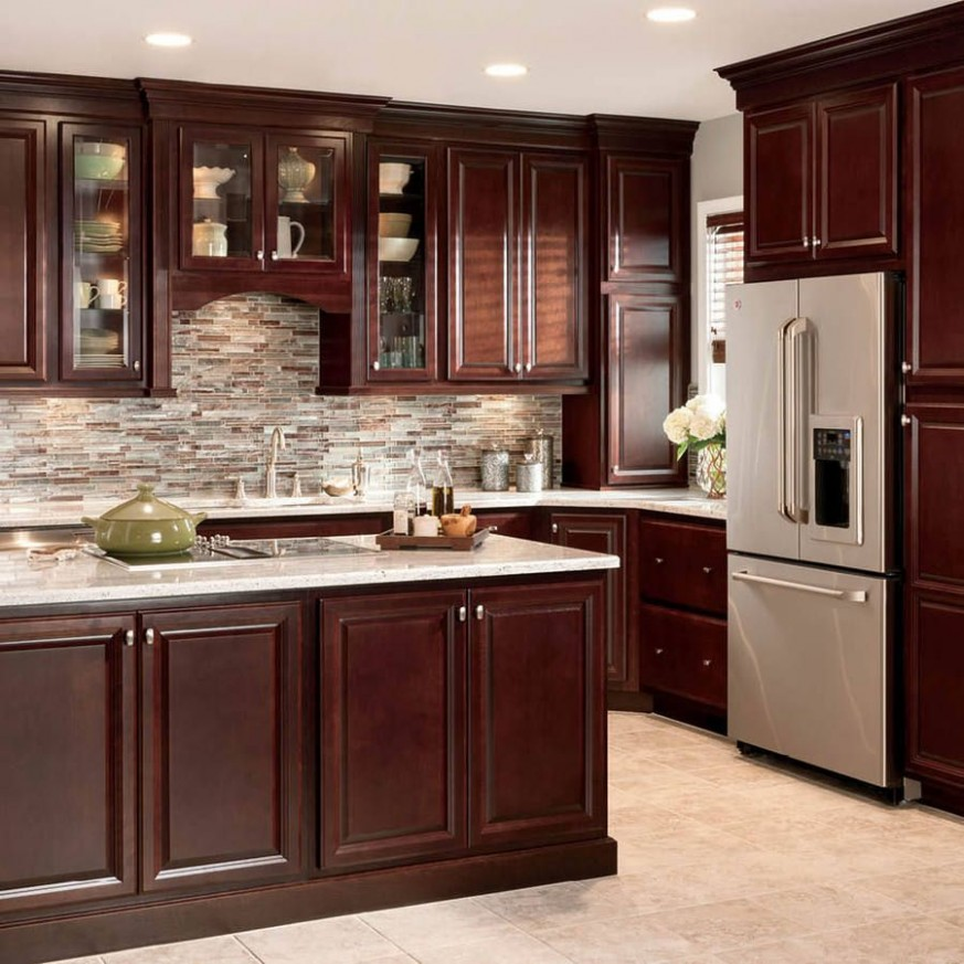 Product Image 11  Cherry cabinets kitchen, Rustic kitchen cabinets  - Lowes Cherry Wood Kitchen Cabinets