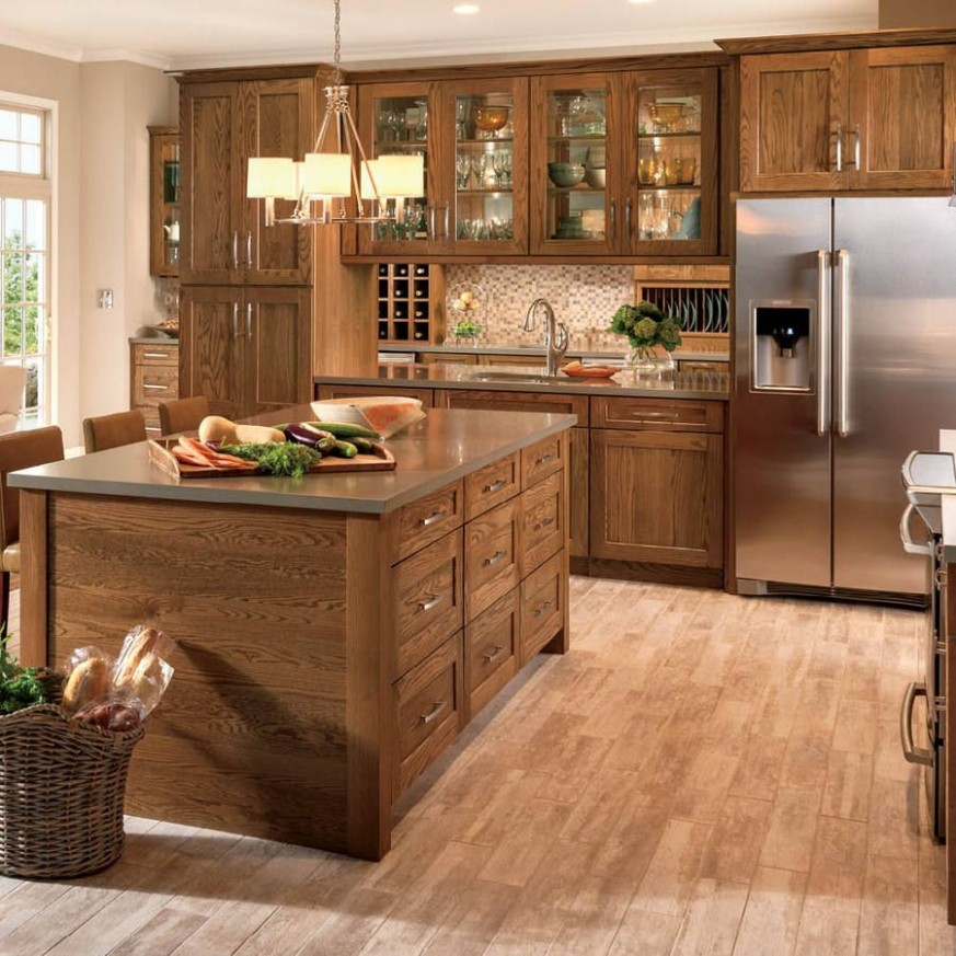 Product Image 11  Log home kitchens, Stained kitchen cabinets  - Lowes Cherry Wood Kitchen Cabinets