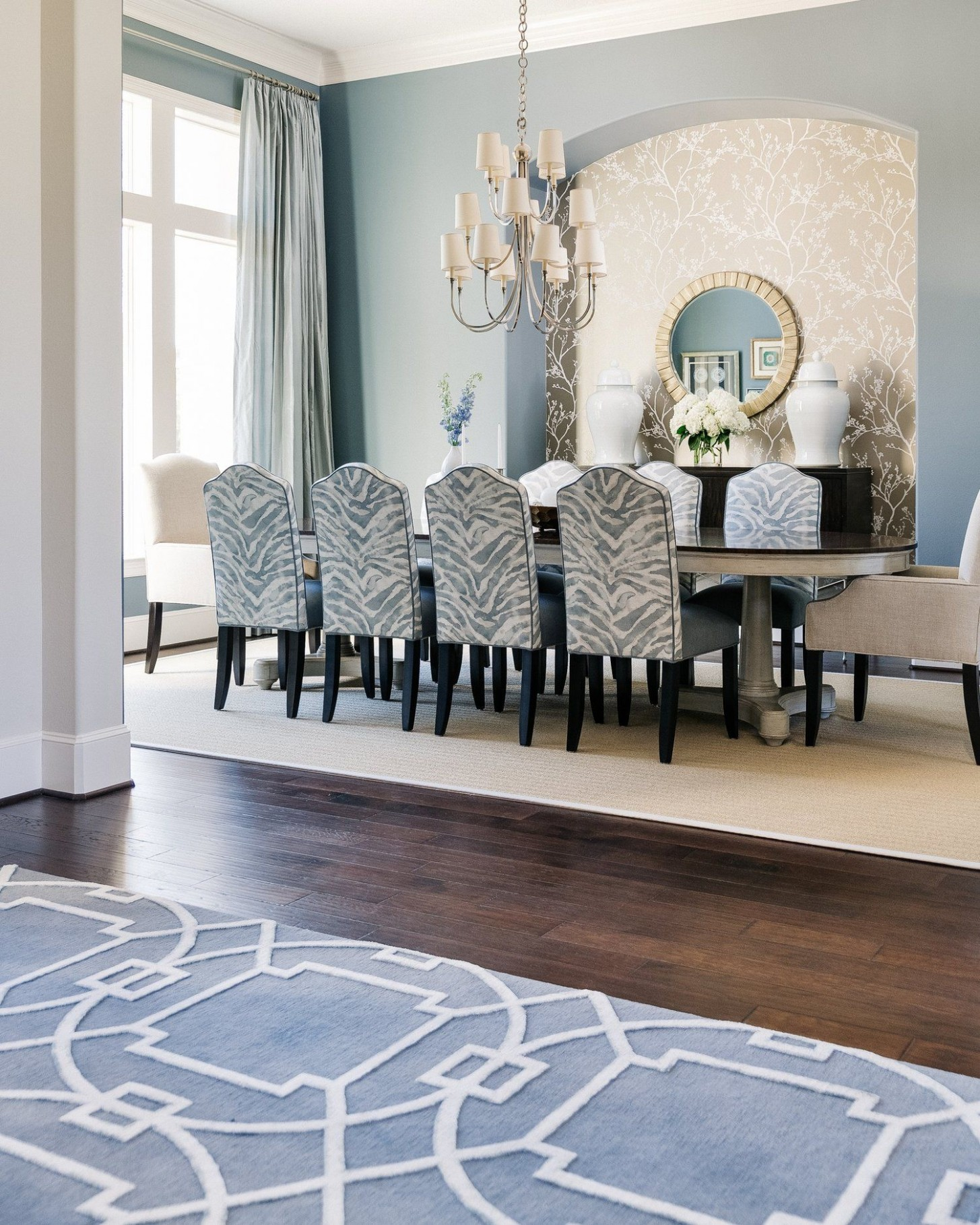 PROJECT REVEAL - An Elegant Dining Room With A Fresh, New Look  - Dining Room Ideas Blue