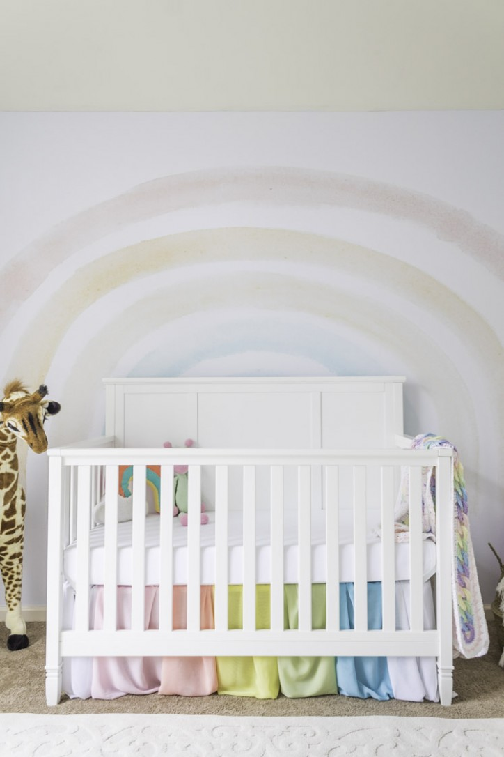 Rainbow Baby Nursery Decor  Home Design & Lifestyle  Jennifer Maune - Baby Room Rainbow