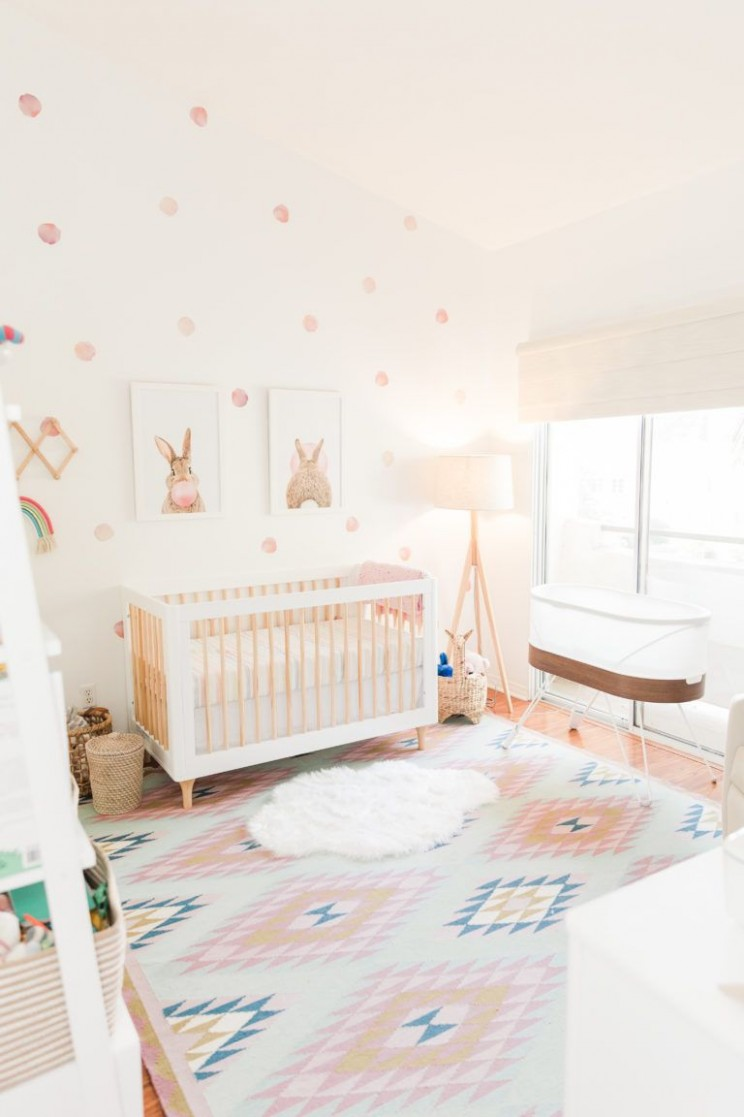 Rainbow Inspired Nursery - Project Nursery in 11  Girl nursery  - Baby Room Rainbow