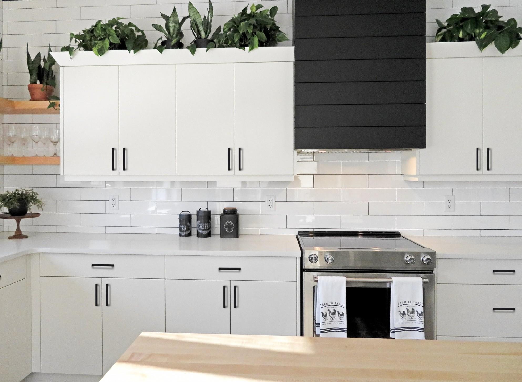 Ravinte 11 Pack 11 Inch Kitchen Square Cabinet Handles Matte Black Cabi - Matte Black Kitchen Cabinet Hardware