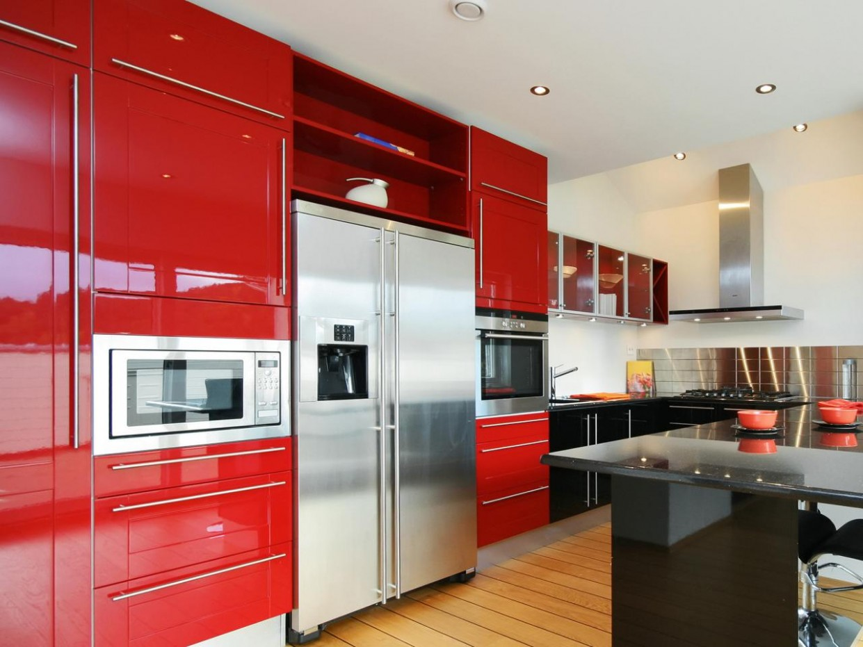 Red Kitchen Cabinets: Pictures, Ideas & Tips From HGTV  HGTV - Red Kitchen Walls With Dark Cabinets