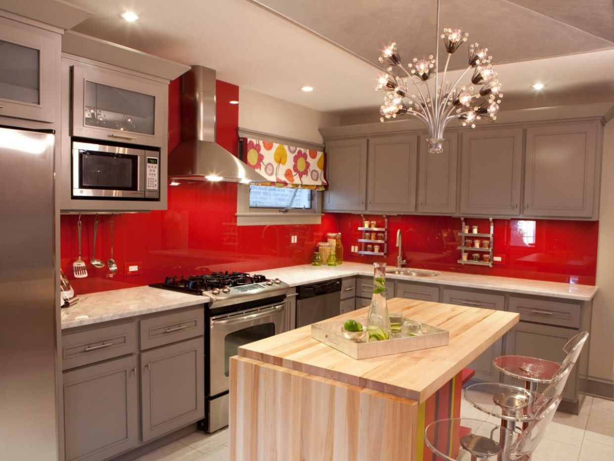 Red Kitchen Paint: Pictures, Ideas & Tips From HGTV  HGTV - Red Kitchen Walls With Dark Cabinets