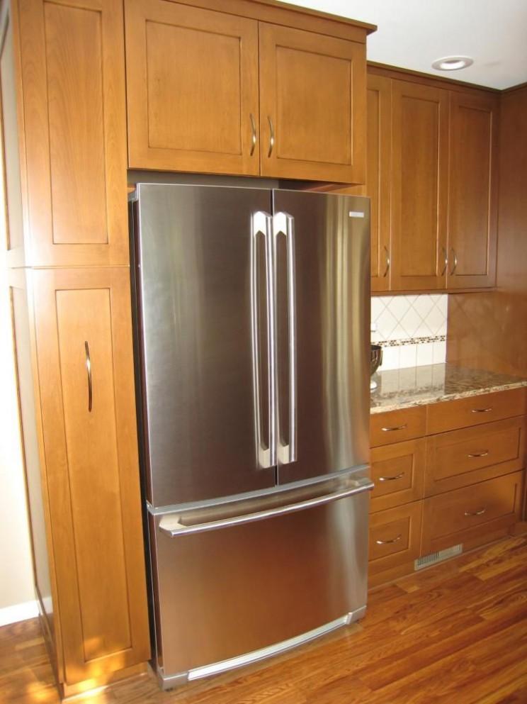 refrigerator surround cabinets  RE: Cabinet Depth Refrigerator  - Kitchen Cabinet Dimensions Refrigerator