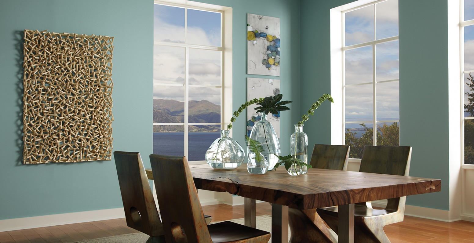 Relaxed & Calming Dining Room Ideas and Inspirational Paint Colors  - Dining Room Ideas Colours