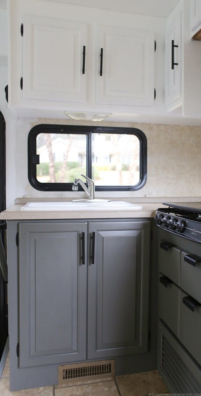 Renovation Progress: RV Kitchen Cabinets  Remodeled campers  - Motorhome Kitchen Cabinets