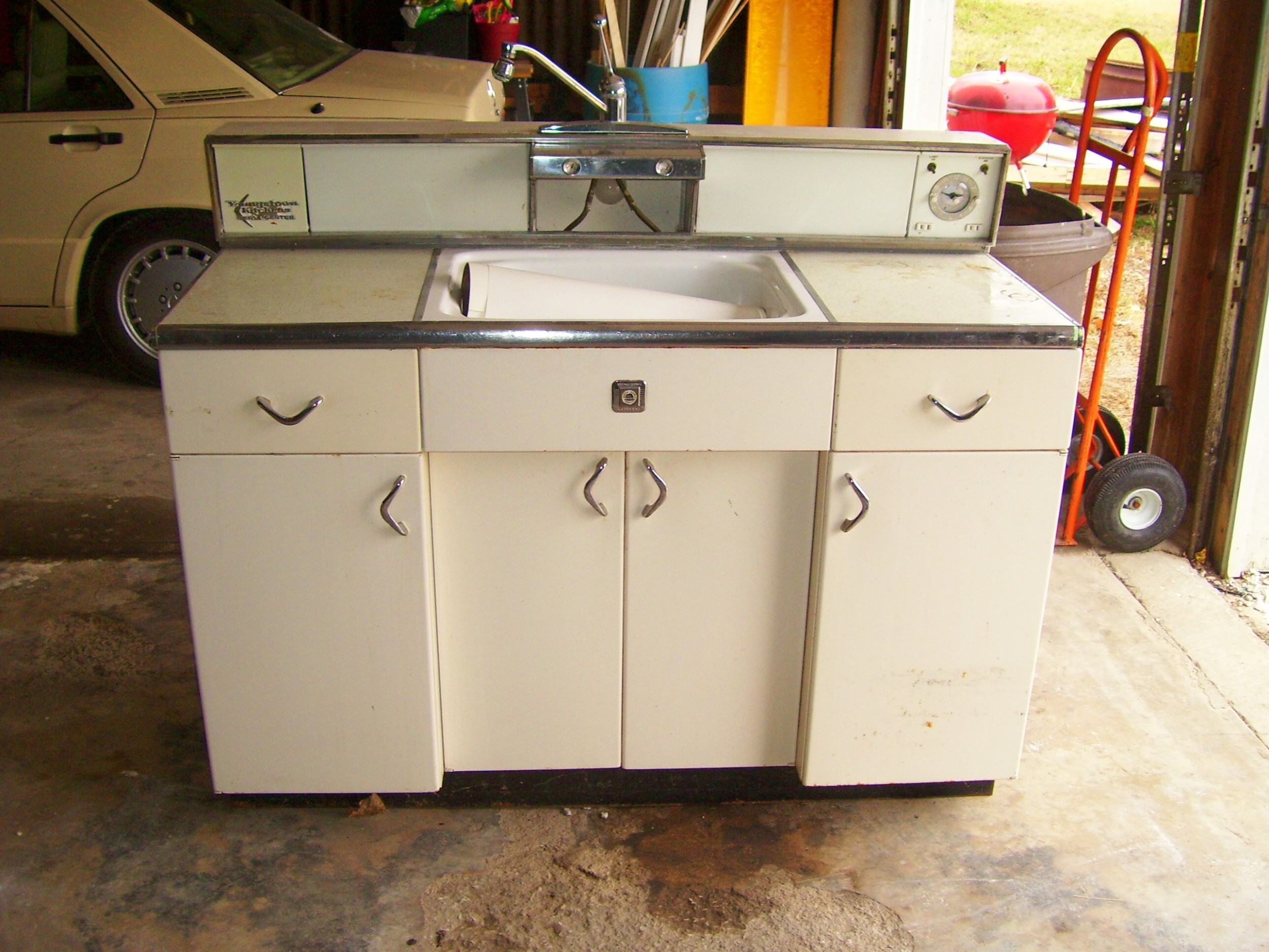 Retro Metal Cabinets for sale - At Home in Kansas City with Sarah  - Steel Kitchen Cabinets Craigslist