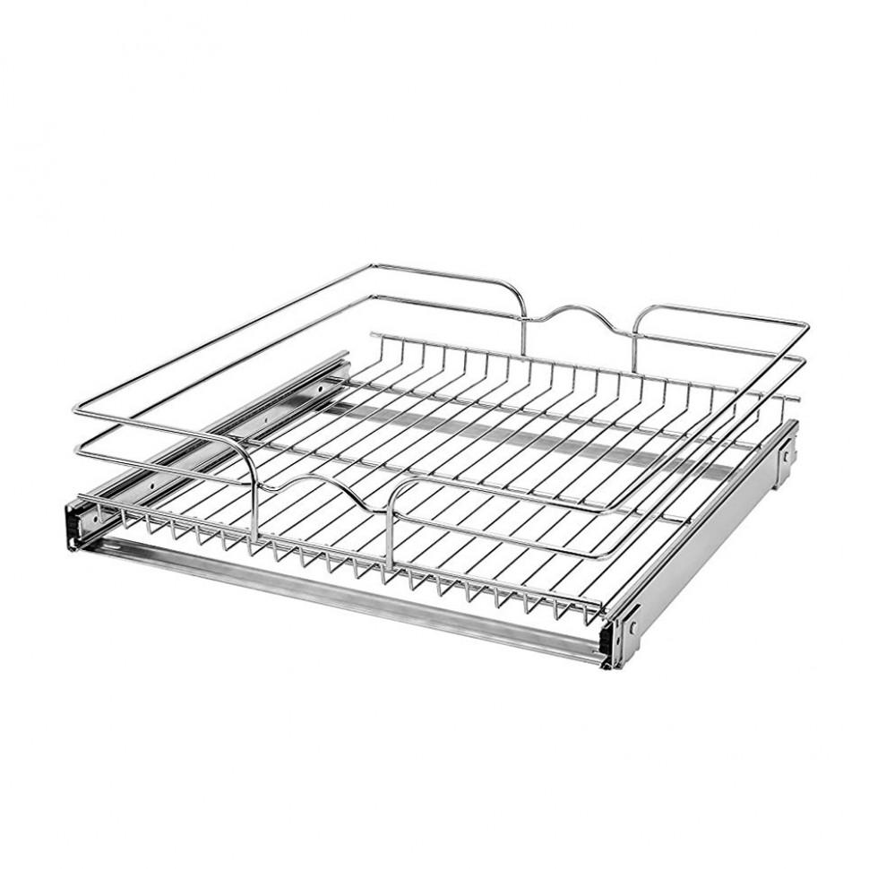 Rev-A-Shelf 10 Inch Wide 10 Inch Deep Base Kitchen Cabinet Pull  - 21 Inch Deep Kitchen Base Cabinet
