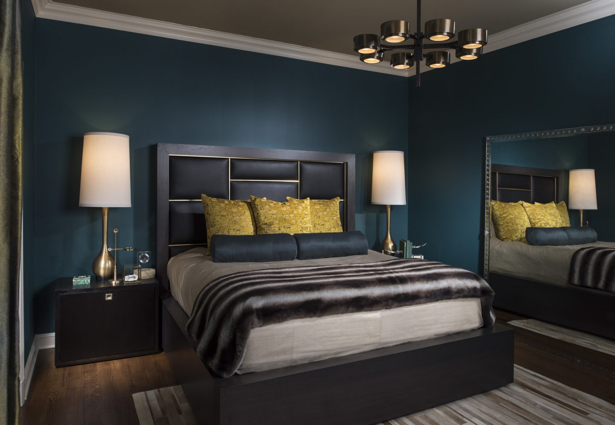 Richly Colored Dark Bedroom Designs - Chairish Blog - Bedroom Ideas Dark