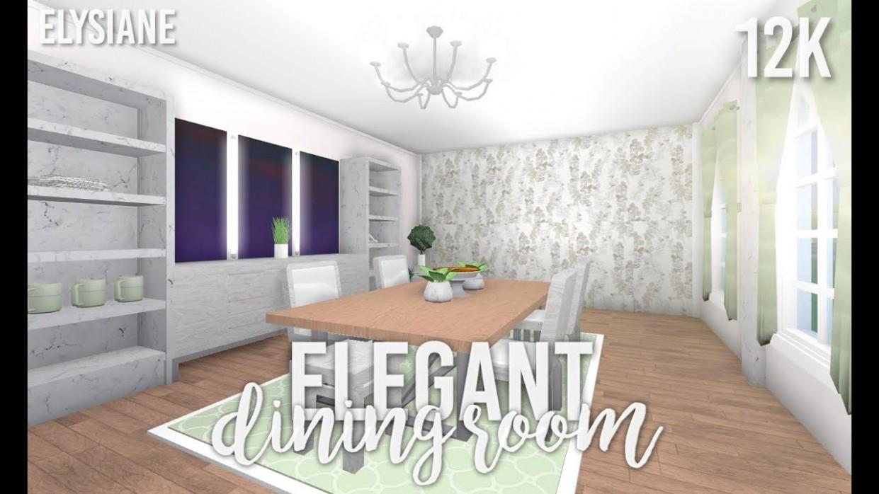 ROBLOX  Bloxburg: Elegant Dining Room - Dining Room Ideas Bloxburg
