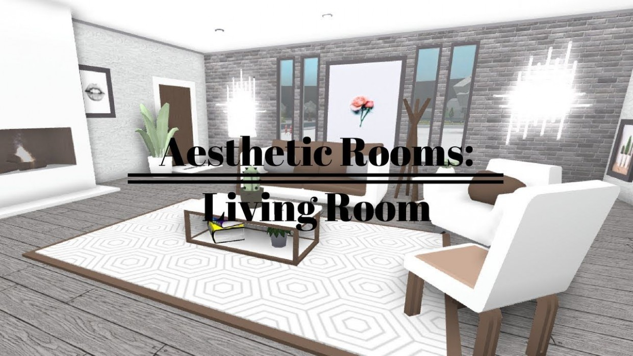 ROBLOX  Welcome To Bloxburg: Aesthetic Rooms - Living Room  Tiny  - Dining Room Ideas Bloxburg