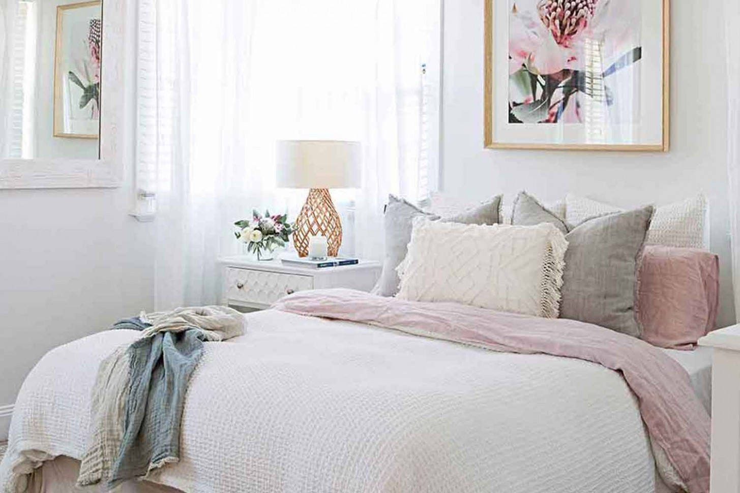 Room recipe: Hamptons-style bedroom  Home Beautiful Magazine  - Bedroom Ideas Hampton Style