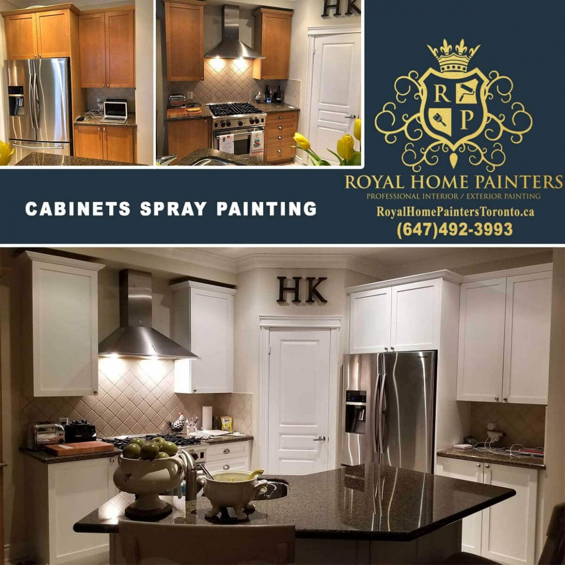 Royal Home Painters Toronto - Interior Exterior House Painting - Kitchen Cabinet Painting Toronto