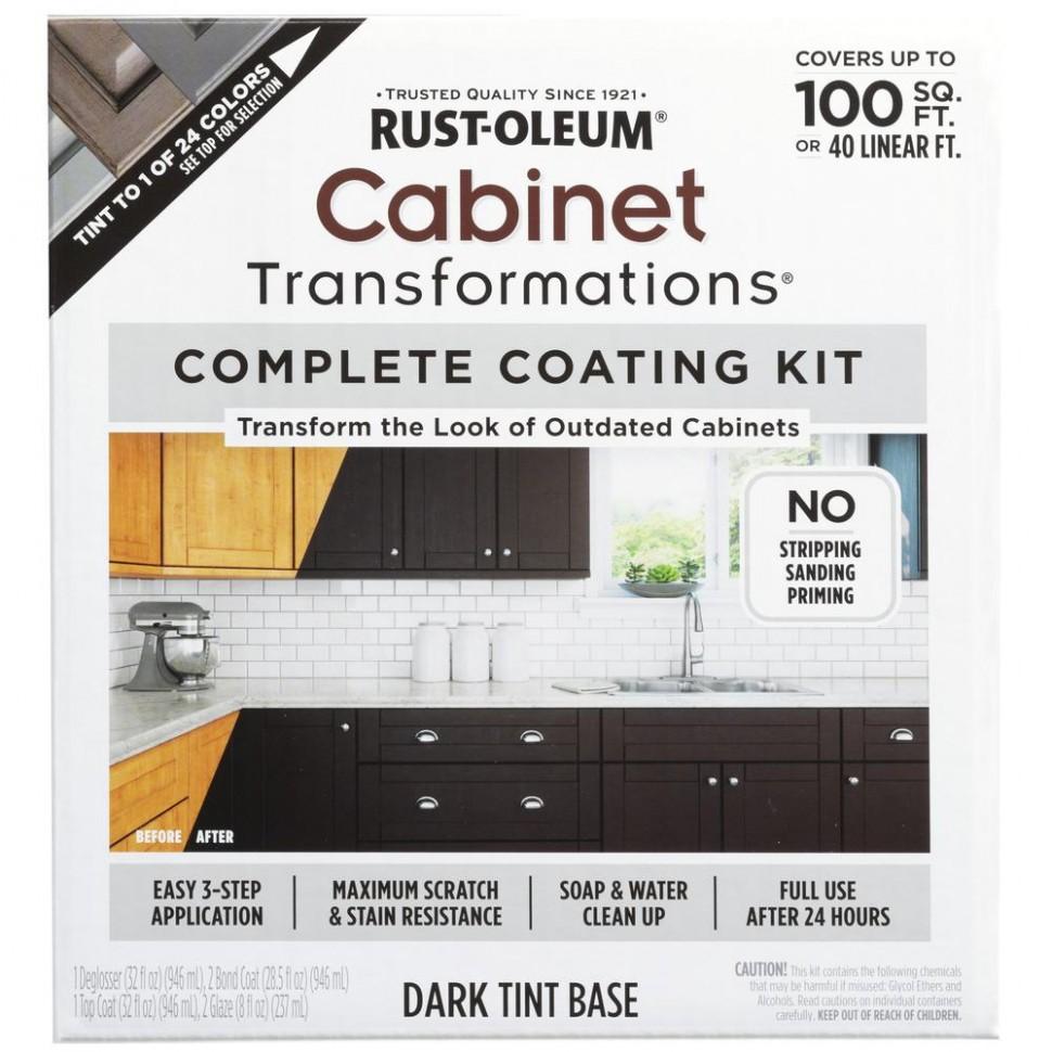 Rust-Oleum Transformations Dark Color Cabinet Kit (11-Piece) - Rustoleum Kitchen Cabinet Paint Kit Reviews