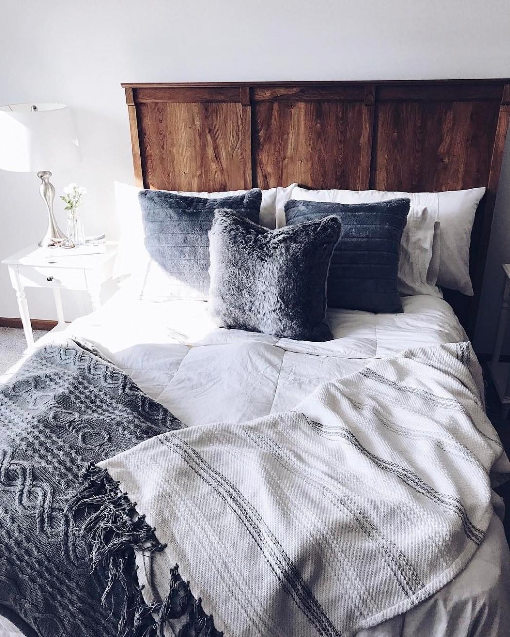 Rustic & grey bedroom  Rustic grey bedroom, Rustic bedroom  - Bedroom Ideas Rustic