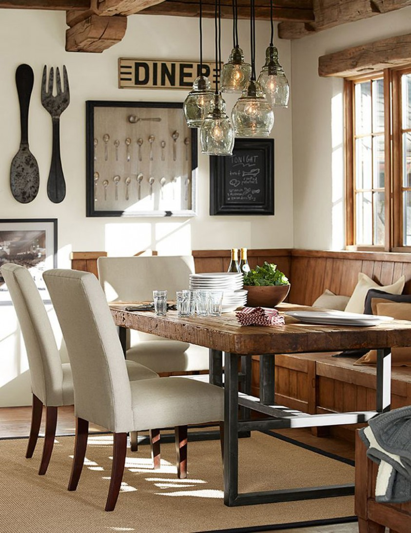 Rustic Dining Room Ideas Country Cottage Farmhouse And Spaces  - Dining Room Ideas Country