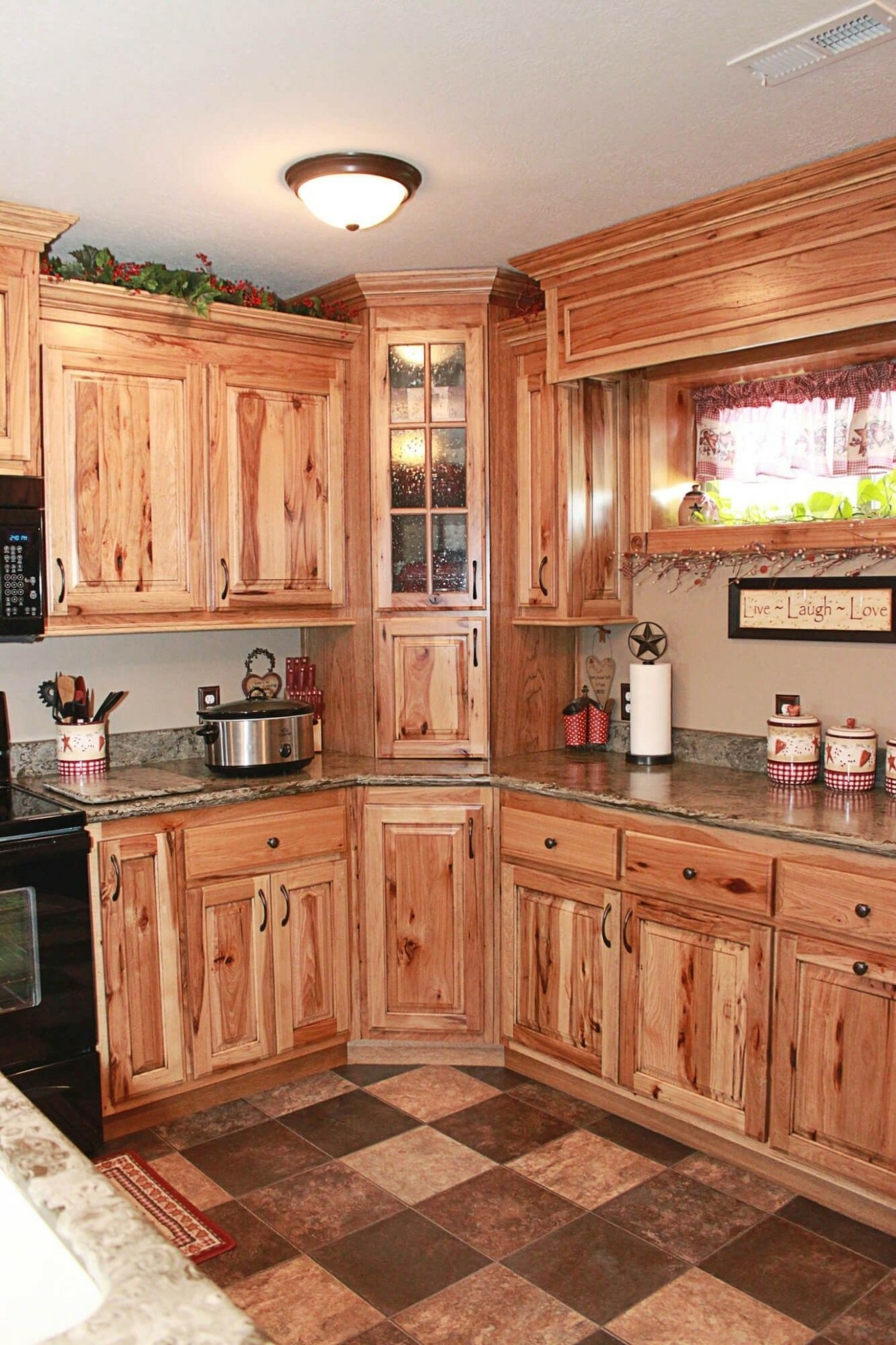 Rustic Hickory Kitchen Cabinets Elegant Best Knotty Shaker Style  - Natural Hickory Kitchen Cabinets